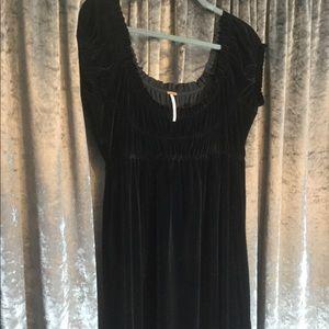 Black Velvet Smocked Dress Free People M